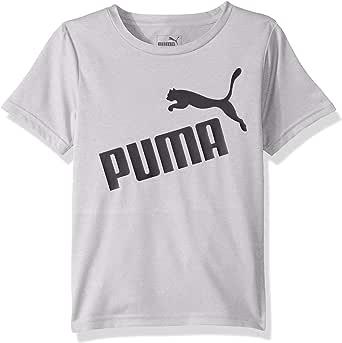 Puma 男童图案 T 恤 浅麻灰色 7