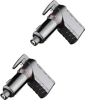 Ztylus USB 應急逃生工具: life-saving 救援汽車充電器,彈簧窗開關賓治,*帶 CUTTER ,雙2.4?A USB 端口(黑色) 2x Black Stinger Bundle