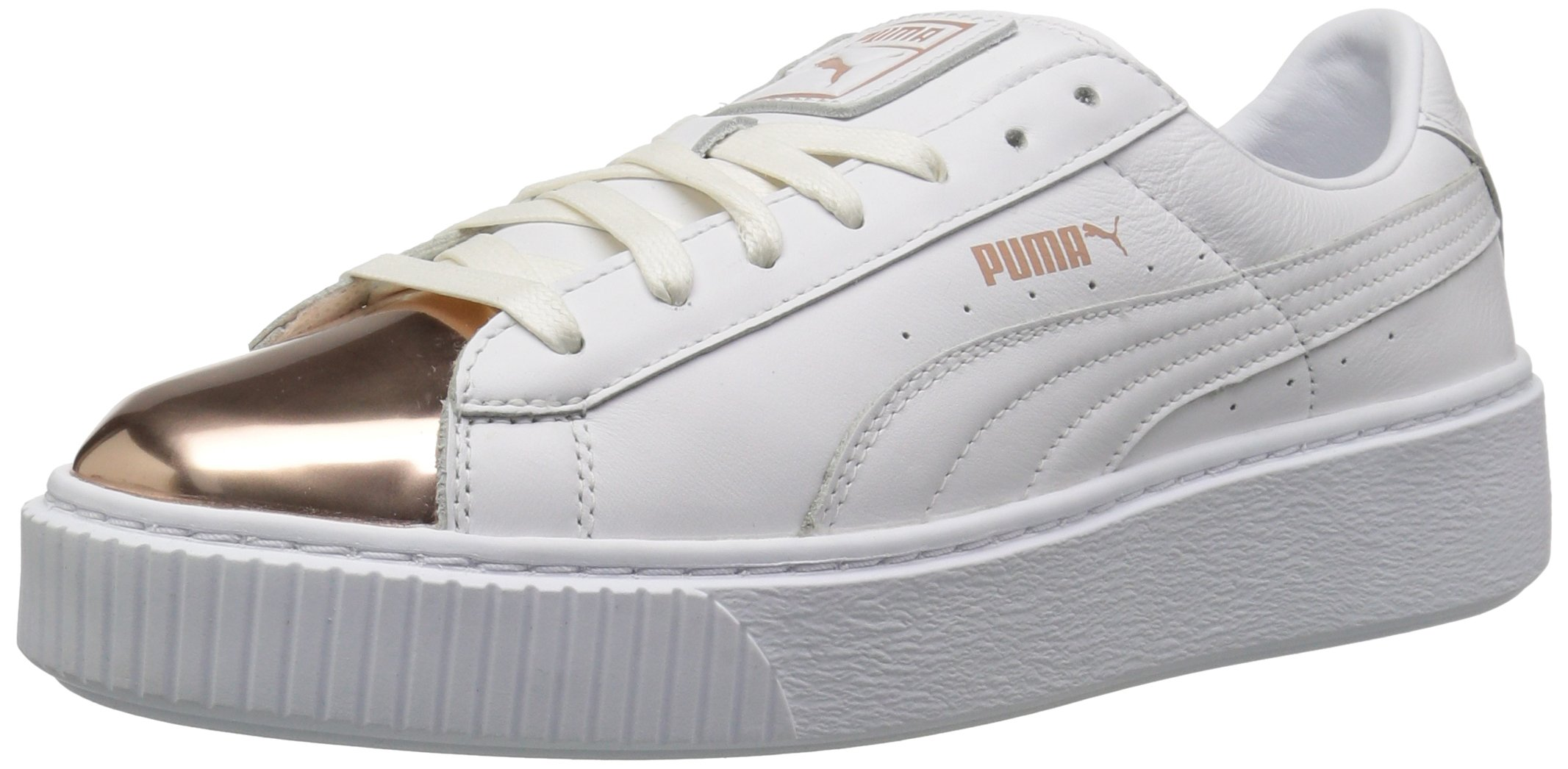 PUMA 彪马 Basket Platform Metallic 女士厚底板鞋