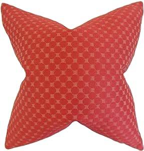 "The Pillow Collection Ealia 锯齿状羽毛填充 Adobe 抱枕 ""Multi"" 20 x 20 P18-ROB-PATIOSTTRIPE-MULTI-P65"