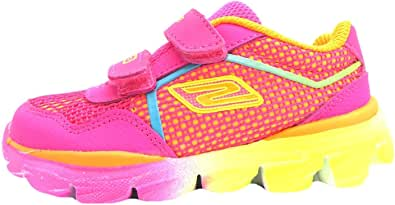 Skechers GO RUN RIDE – Lil RACER 女童跑鞋 粉色 6 UK Child