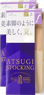 ATSUGI 厚木 连裤丝袜 ATSUGI STOCKING 像素腿一样美丽,夏天,大腿长 2双套装 ASTIGU 女士 NEW黄棕色 日本 M~L (日本サイズM-L相当)