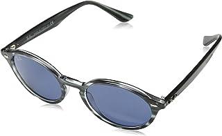 Ray-Ban 雷朋中性款成人 0RB4315 太阳镜,棕色(蓝色哈瓦那条纹),51.0