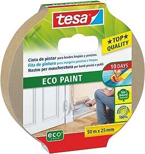 Tesa Eco 直型涂料胶带,25 米 x 50 毫米,棕色