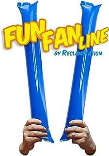 FUN FAN LINE – 60 对竹制薄膜棒。 体育赛事的Noise Makers Boom Sticks for Cheerleading。 体育场或派对的噪音棒。 蓝色