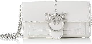PINKO 女士爱情钱包简单C Vitello 钱包,2.5x10.8x19.2 厘米