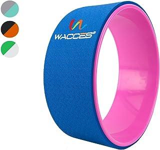 Wacces 瑜伽轮 13 英寸(约 33.0 厘米)拉伸,舒适的瑜伽姿势和后弯支撑,提升柔韧性和平衡,背部开档器,重新恢复*