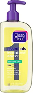 Clean & Clear Essentials Foaming Facial Cleanser Sensitive Skin, 8 Fl. Oz. 8 Fluid Ounce (Pack of 6)
