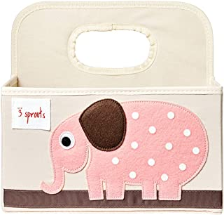 3 Sprouts 婴儿尿布盒 - 幼儿整理篮 大象灰