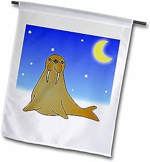 Janna Salak Designs 冬季仙境 - 雪地里的可爱海浪 - 旗帜 12 x 18 inch Garden Flag fl_6300_1
