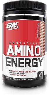 Optimum Nutrition 欧普特蒙 必需氨基酸能量,草莓柠檬口味,锻炼前必需氨基酸补充,含绿茶和生咖啡提取物,30份