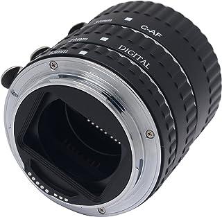 Mcoplus 自动聚焦 AF 金属微距扩展管套装镜头适配器环适用于佳能 EOS EF/EF-S SLR 摄像机 - 黑色