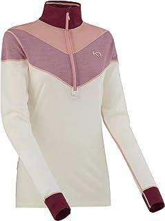 Kari Traa 女式 Kink 打底上衣 - 半拉链美利奴羊毛混纺保暖衬衫