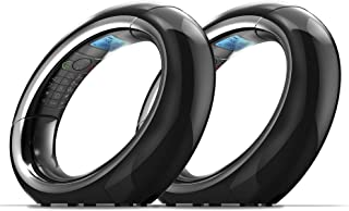 iDECT Eclipse Plus 数字无绳电话带应答机,呼叫阻塞器和 2 个手机套(黑色)