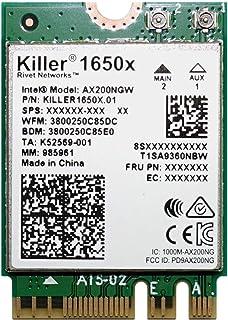 Killer Wi-Fi 6 AX1650 模块 - 双频,2x2 Wi-Fi 6/11AX,蓝牙 5.0,M.2/NGFF(Gig+)