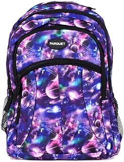 儿童书包、带可调节衬垫肩带的重型包、大主隔层舒适、炫酷印花、手提书、笔记本电脑、旅行、户外 太空