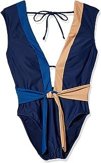 Kenneth Cole New York 女士低胸盖袖连体泳衣