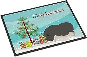 Caroline's Treasures 越南波点肚子小猪圣诞节门垫,45.72 厘米 x 68.58 厘米,多色