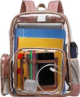 BuyAgain 透明背包 重型透明背包 书包 适合上学上班旅行