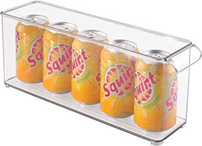 """InterDesign Refrigerator and Freezer Storage Organizer Bin for Kitchen, 4"""" x 6"""" x 14.5"""", Clear"""