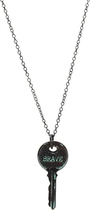 "Inspirational Message Key Pendant Necklace 21"""