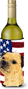 USA American Flag with Border Terrier Michelob Ultra Koozies for slim cans SS4247MUK 多色 750 ml