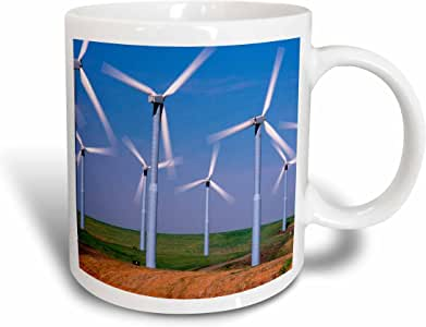 3drose danita delimont–ENERGY–美国,华盛顿, WIND turbines ENERGY–us48ccr0118–查尔斯 crust–马克杯 白色 15盎司