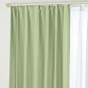 遮光窗帘B&蕾丝DO 02.叶绿色 幅125×丈120cm 4枚組 -