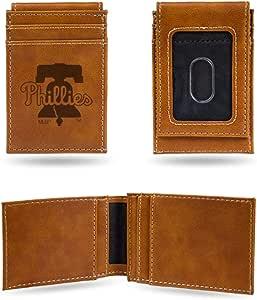 Rico Industries Phillies 激光雕刻棕色前口袋钱包