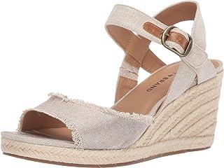 Lucky Brand 女士 Mindra Espadrille 坡跟凉鞋