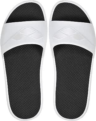 arena 男士游泳凉鞋 Watergrip (防滑,*,*大耐用) White-black 43 EU