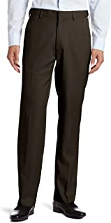 Haggar Men's Flex Gab Plain-Front Expandable-Waistband Dress Pant