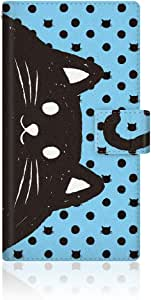 CaseMarket x NYAGO 【手册式】 docomo arrows SV F-03H 超薄壳 针脚模型 [ NYAGO 笔记本 尾巴 - 蓝色 ] 皮革手册式 针脚 & 挂绳孔F-03H-VNG2S2013 蓝色