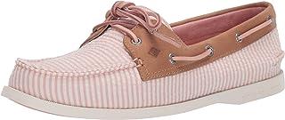 SPERRY 女式 A/O 双眼泡泡纱条纹纺织船鞋
