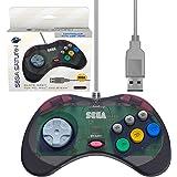Retro-Bit 官方 Sega Saturn 控制板 USB - 石板灰 - PC;Mac;Linux