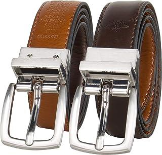 Dockers 男童大号双面黑-棕色皮带