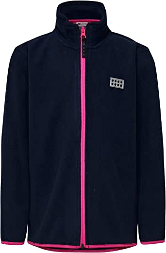LEGO Wear 女孩乐高 M 号\u00e4dchen Siam 118-抓绒夹克,蓝色(深粉色 473),均码(尺码:80)