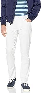 Perry Ellis 男式修身弹力五口袋棉缎长裤