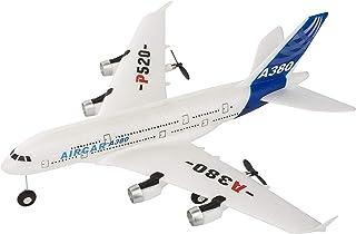 新款 A380 飞机 2.4G 2Ch 固定翼户外 P520-A380 遥控飞机玩具两节电池(蓝色)
