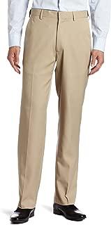 Haggar 男式 Flex Gab 平头可扩展腰带长裤 卡其色 38W x 34L
