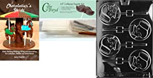 """Cybrtrayd""""Nurse Lolly"""" Chocolate Mold with Chocolatier's Bundle, Includes 50 Lollipop Sticks, 50 Cello Bags, 25 Gold and 25 Silver Twist Ties and Chocolatier's Guide"""