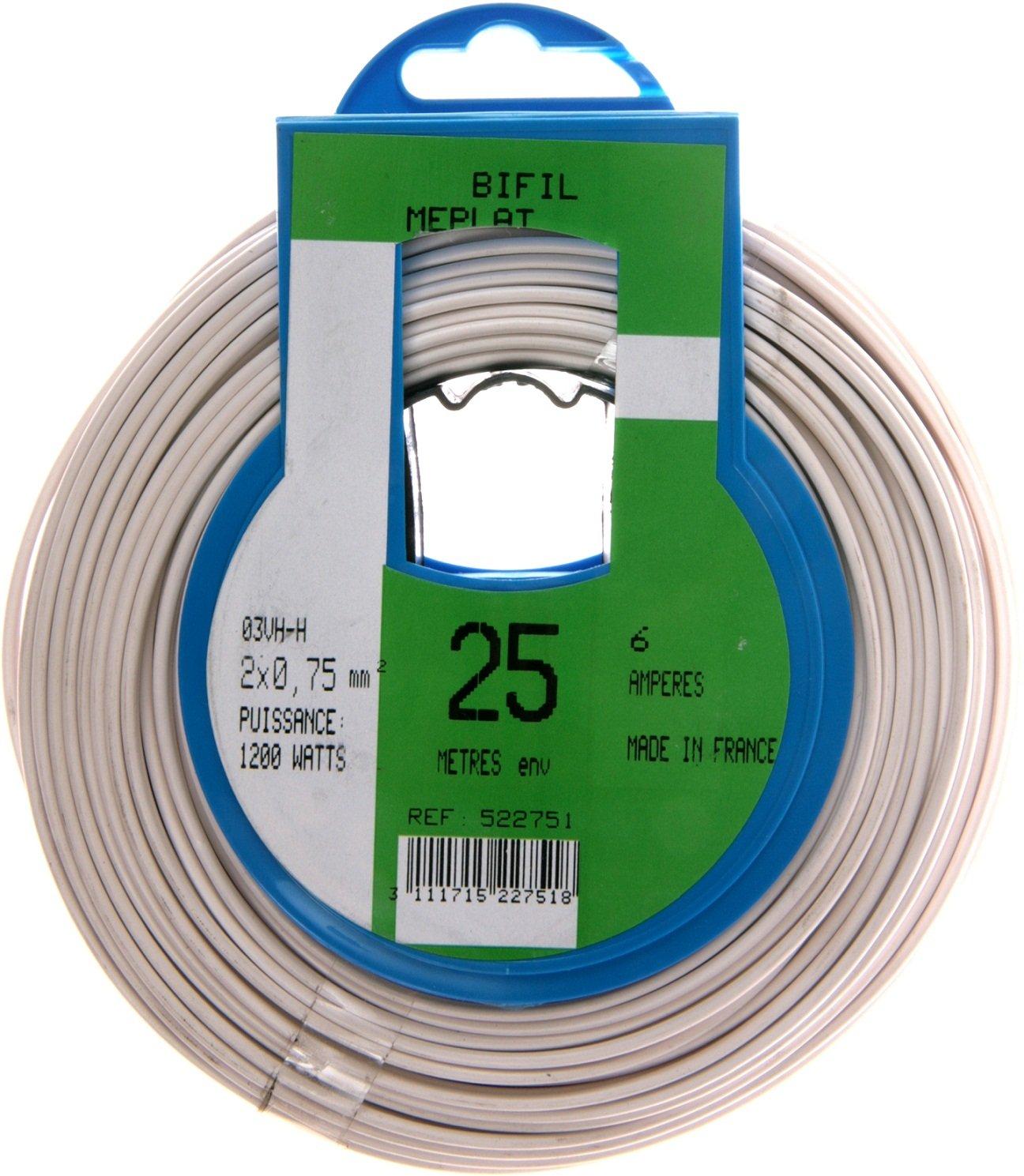 Profiplast PRP522751スピーカーケーブル25メートル白ミリメートルHO3VHH 2×0.75
