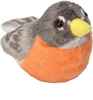 "Wild Republic 18226 奥杜本鸟红喉蜂鸟真品鸟声毛绒玩具 0 months to 99 months Audubon Bird 5 ""英寸 American Robin"