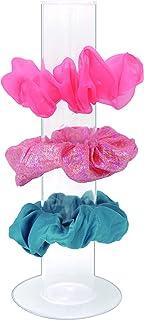 Stratalife Scrunchie 支架透明亚克力纤细收纳盒女孩垂直首饰手镯吊坠展示架(1 件)