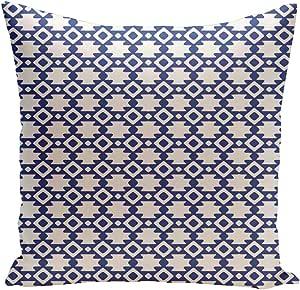 Ebydesign Geometric Decorative Pillow, Dazzling Blue-3