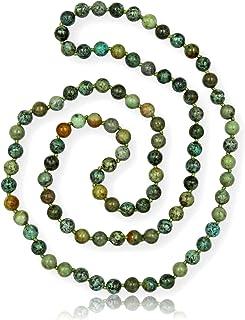 MGR MY GEMS ROCK! 91.44 cm 8MM 抛光正品半宝石无限长串珠项链。
