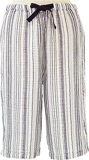 内野(UCHINO)女士短裤 绉纱布 随机条纹 灰色 Medium RBS95393 GY