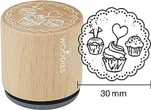 """Woodies 邀请主题邮票""""卷轴"""" 1-3/16"""" 印象(071728) 黑色 071735"""