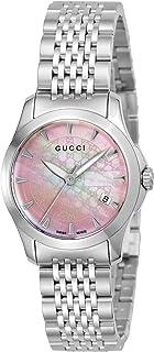 [GUCCI古驰] 腕表 G Timeless 粉色珍珠表盘 YA126532 银色
