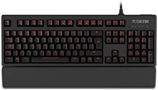 fnatic 齿轮 RUSH LED 背光机械 PRO 游戏键盘带红色 MX Cherry 开关,美国尺码布局